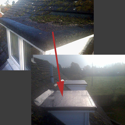 Dormer before & After